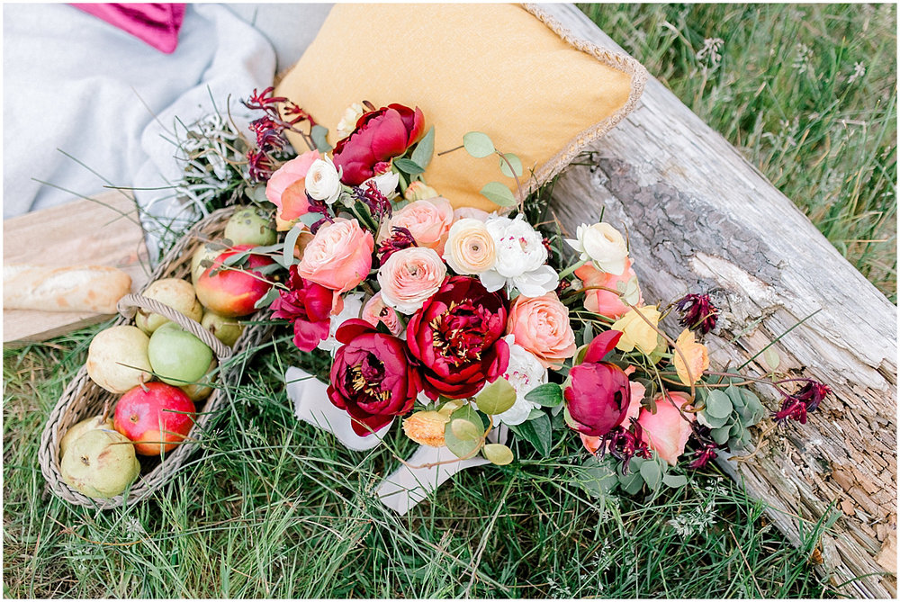 Pacific Northwest Elopement on Rose Ranch | Emma Rose Company Seattle and Portland Wedding Photographer | Engaged | Lace Wedding Gown | Peonie and ranunculus bouquet-25.jpg