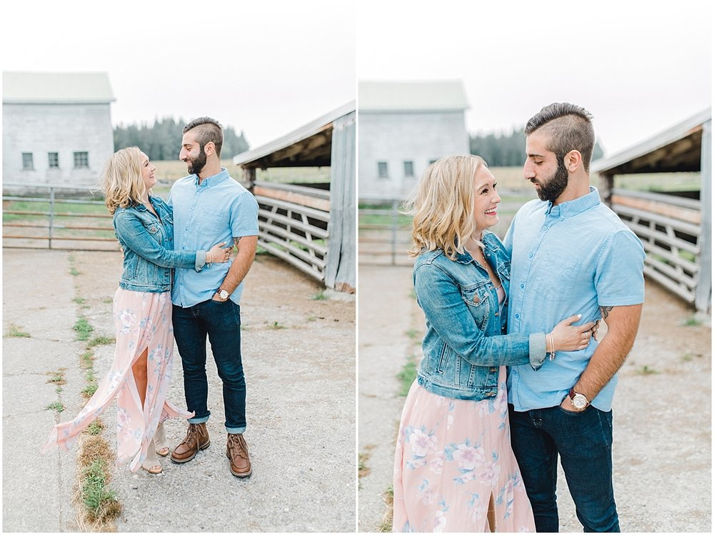 Emma Rose Company | PNW Engagement Session | What to Wear for Pictures | Rose Ranch Engagement | Sunset | Kindred Presets | Seattle Wedding Photographer Light and Airy_0241.jpg