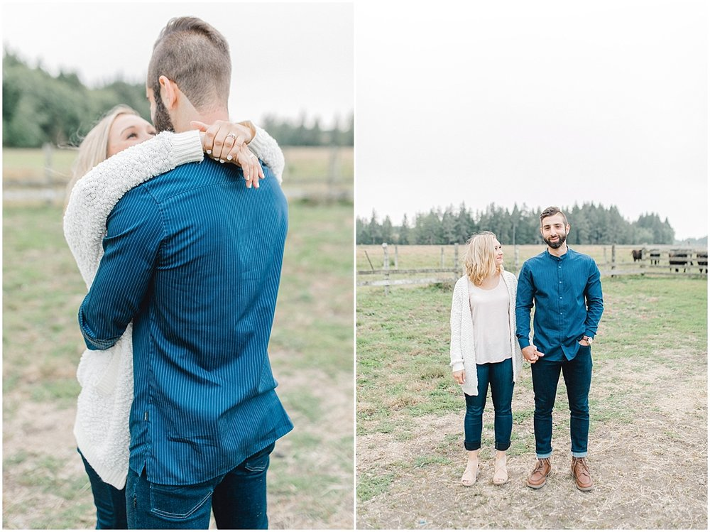 Emma Rose Company | PNW Engagement Session | What to Wear for Pictures | Rose Ranch Engagement | Sunset | Kindred Presets | Seattle Wedding Photographer Light and Airy_0268.jpg