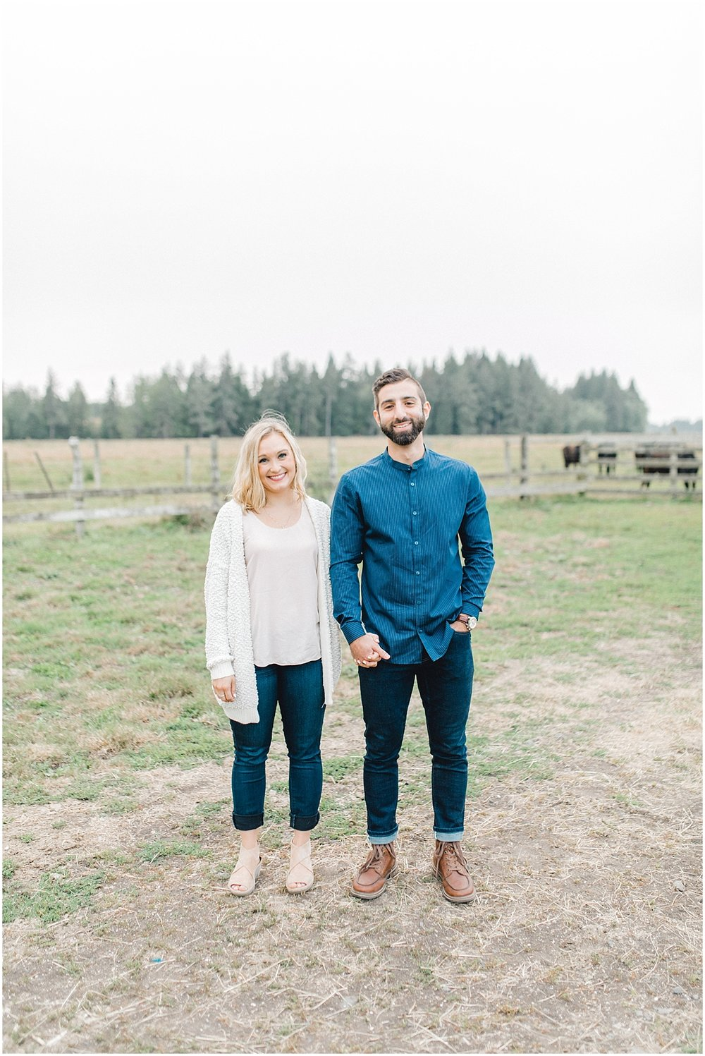 Emma Rose Company | PNW Engagement Session | What to Wear for Pictures | Rose Ranch Engagement | Sunset | Kindred Presets | Seattle Wedding Photographer Light and Airy_0276.jpg