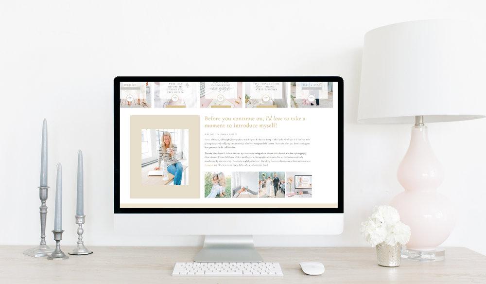 Emma Rose Company Squarespace Website Designer Brand Revamp   Gorgeous Branding   Grey and Yellow Brand Design