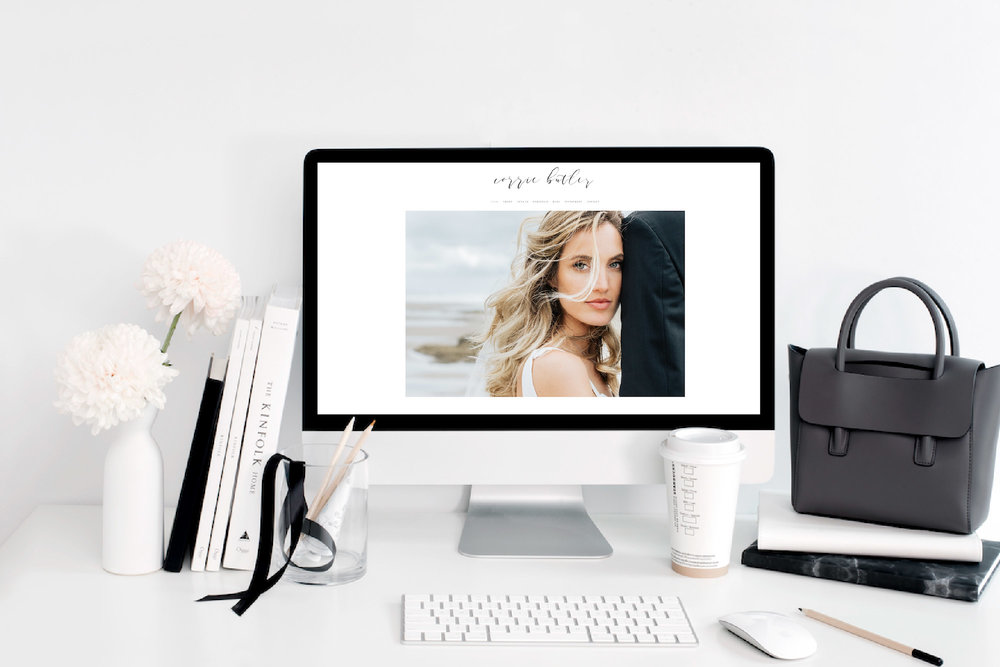 Emma Rose Company Squarespace Website Designer for Photographers | Corrie Butler Photography Website Launch