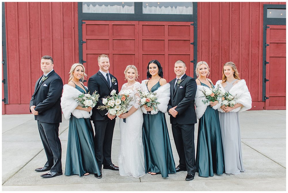 ERC-7853_A beautiful winter wedding in Snohomish, Washington at Thomas Family Farm was simply perfect.  This rustic and modern styled wedding was dripping with romance and photographed by Emma Rose Company, a pacific northwest wedding photographer..jpg