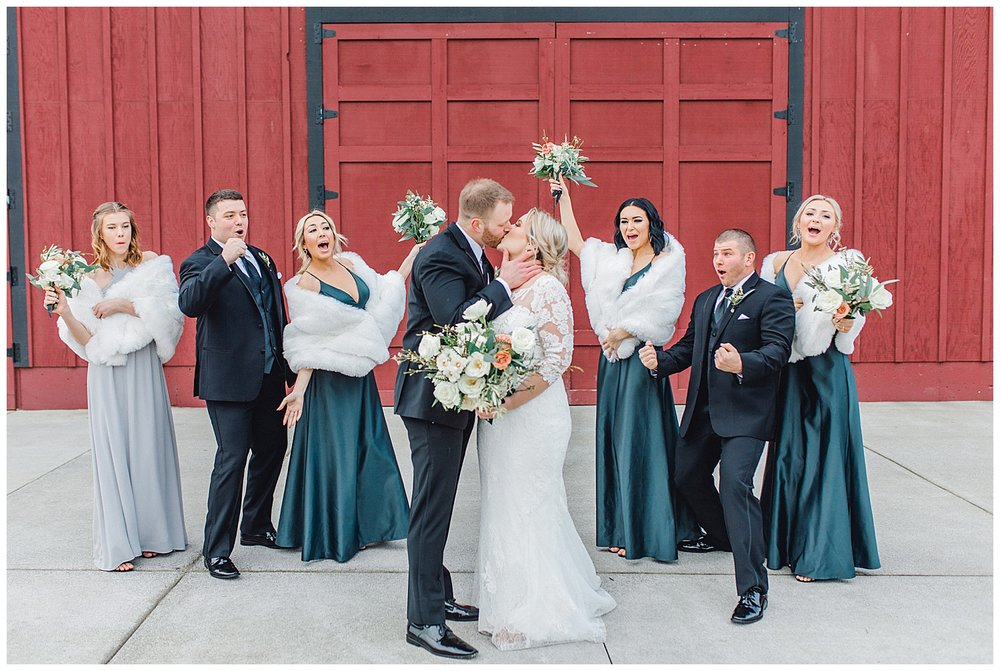 ERC-7905_A beautiful winter wedding in Snohomish, Washington at Thomas Family Farm was simply perfect.  This rustic and modern styled wedding was dripping with romance and photographed by Emma Rose Company, a pacific northwest wedding photographer..jpg