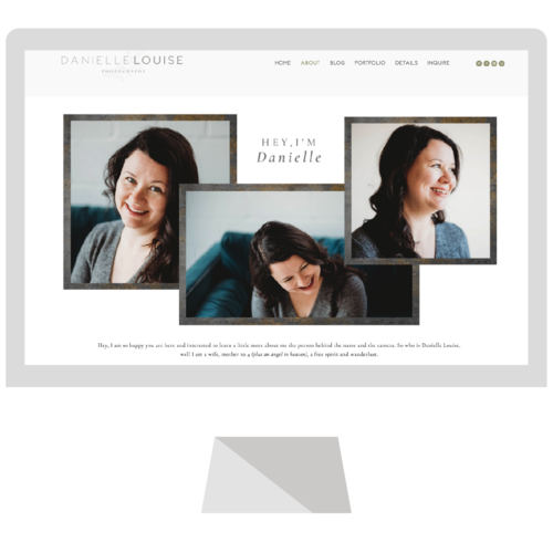 We're excited to launch the beautiful new custom Squarespace website for Danielle Louise Photography and hope you absolutely love how moody meets soft.  Here at Emma Rose Company, we believe in not just having a strong and beautiful logo, but also having a responsive, beautiful, and practical website that helps photographers stand out online amongst the crowd.  You deserve to not only love your website, but to be able to actually use it, too!  #emmarosecompany #websitedesign #squarespacewebsite #websitedesigner #photographywebsiteinspiration