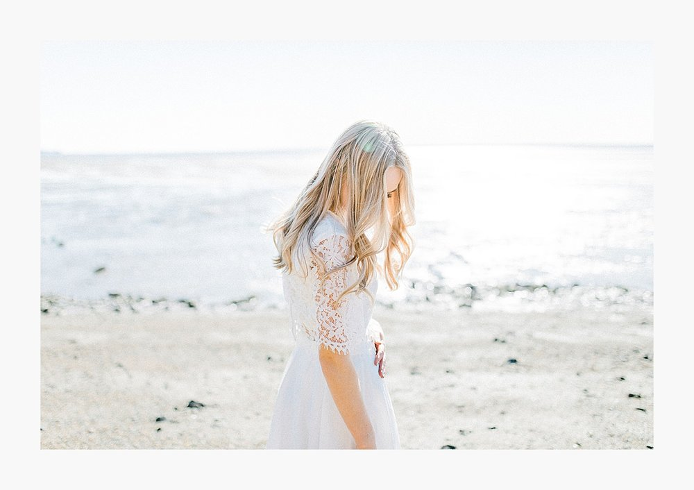 Styled bridal portraits on the beach in simple lace wedding skirt and lace top with Emma Rose Company.  Yellow and ivory inspired bridal shoot in the Pacific Northwest._0002.jpg