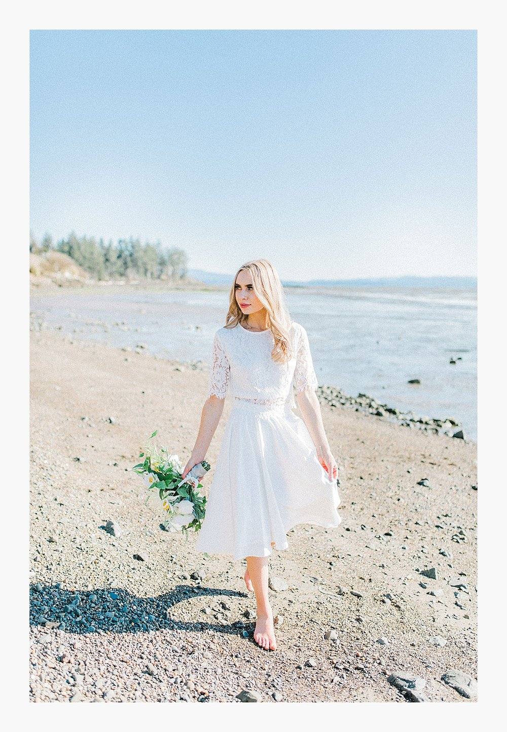 Styled bridal portraits on the beach in simple lace wedding skirt and lace top with Emma Rose Company.  Yellow and ivory inspired bridal shoot in the Pacific Northwest._0017.jpg