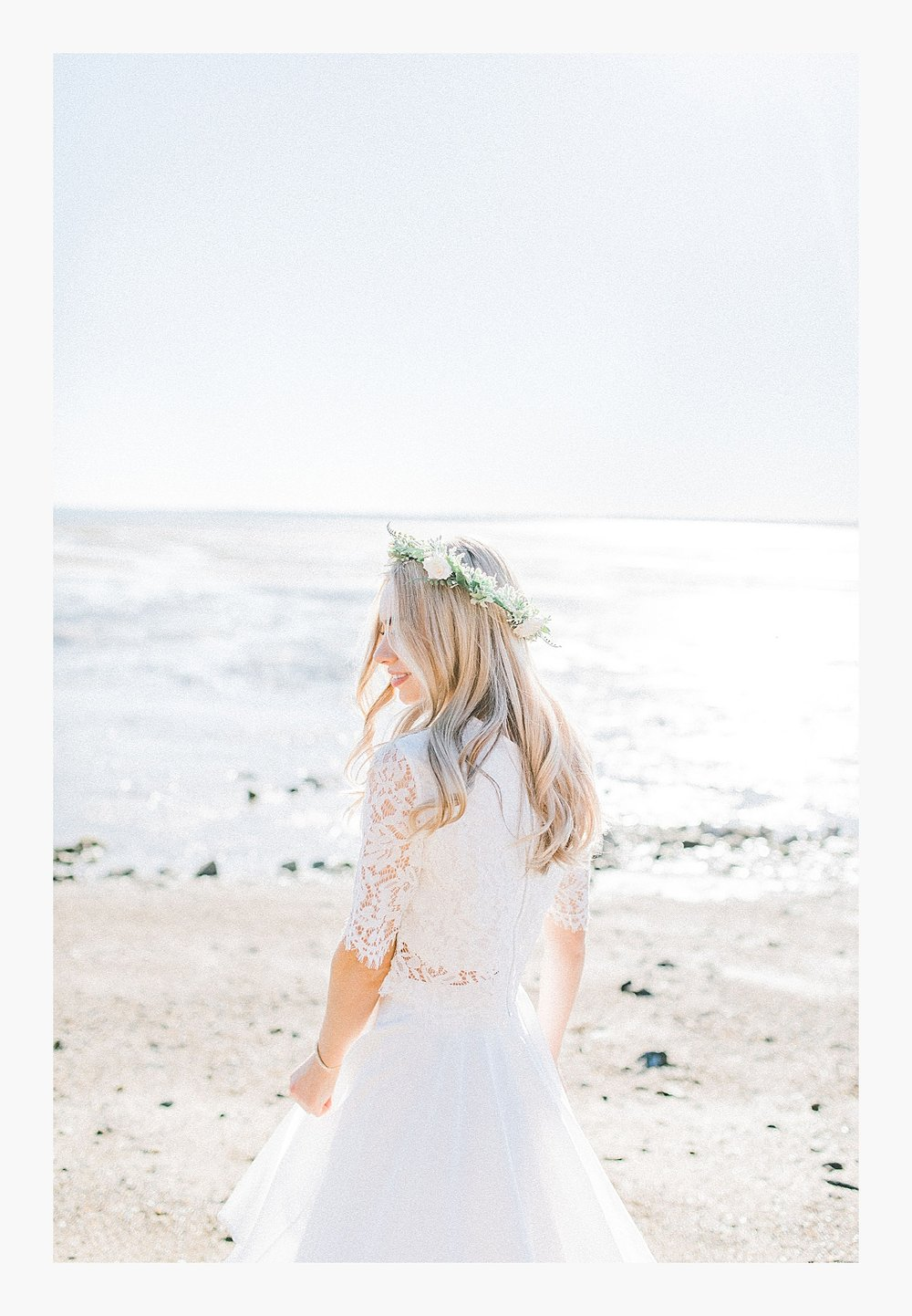 Styled bridal portraits on the beach in simple lace wedding skirt and lace top with Emma Rose Company.  Yellow and ivory inspired bridal shoot in the Pacific Northwest._0012.jpg