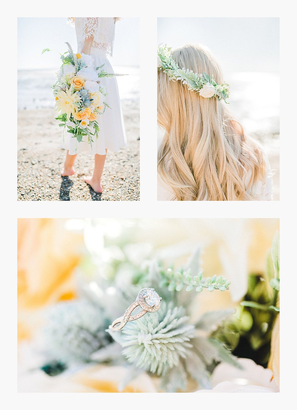 Styled bridal portraits on the beach in simple lace wedding skirt and lace top with Emma Rose Company.  Yellow and ivory inspired bridal shoot in the Pacific Northwest._0005.jpg