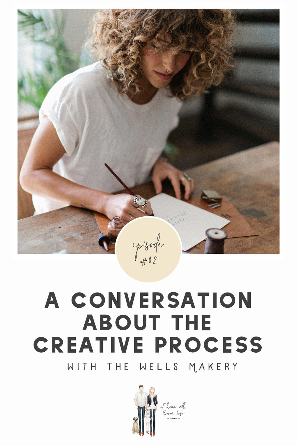 "I absolutely LOVED my conversation with this beautifully creative and insightful woman. It left me feeling so excited for this next season of making and for the other creatives who might be tuning in! You are going to want to give the episode a listen because there is just so much wisdom and life packed into this and there's just no possible way I could get it all down on ""paper.""  Be sure to follow along with Annie and The Wells Makery over on Instagram! Wisit their Website for major inspiration and to check out their offerings because, friends, these gals will totally make you fall in love with your brand all over again."