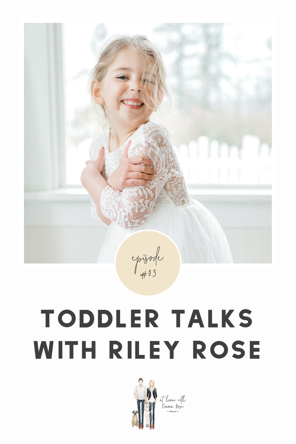 This podcast is all about shedding light on the highs and lows of running a business and life.  I work with fellow creative business owners to find the path to real and sustainable success both personally and professionally.  I did not think it would be right to not include my why behind all I do here at Emma Rose Company without an episode with my daughter, Riley!  Toddler Talks will definitely be a thing around here so I hope you love it as much as I loved making it with her!