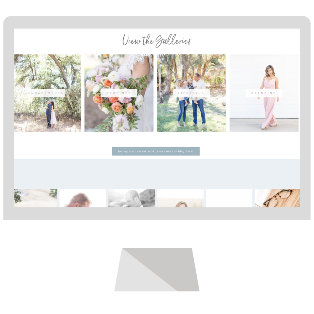 The beautiful ocean blue brand and blog design for Meghan O'Sullivan Photography designed by Emma Rose Company.  This is a custom Squarespace website designer for photographers who are looking to better stand out online.  #emmarosecompany #squarespacewebsitedesign #blogdesign #websitedesigninspiration