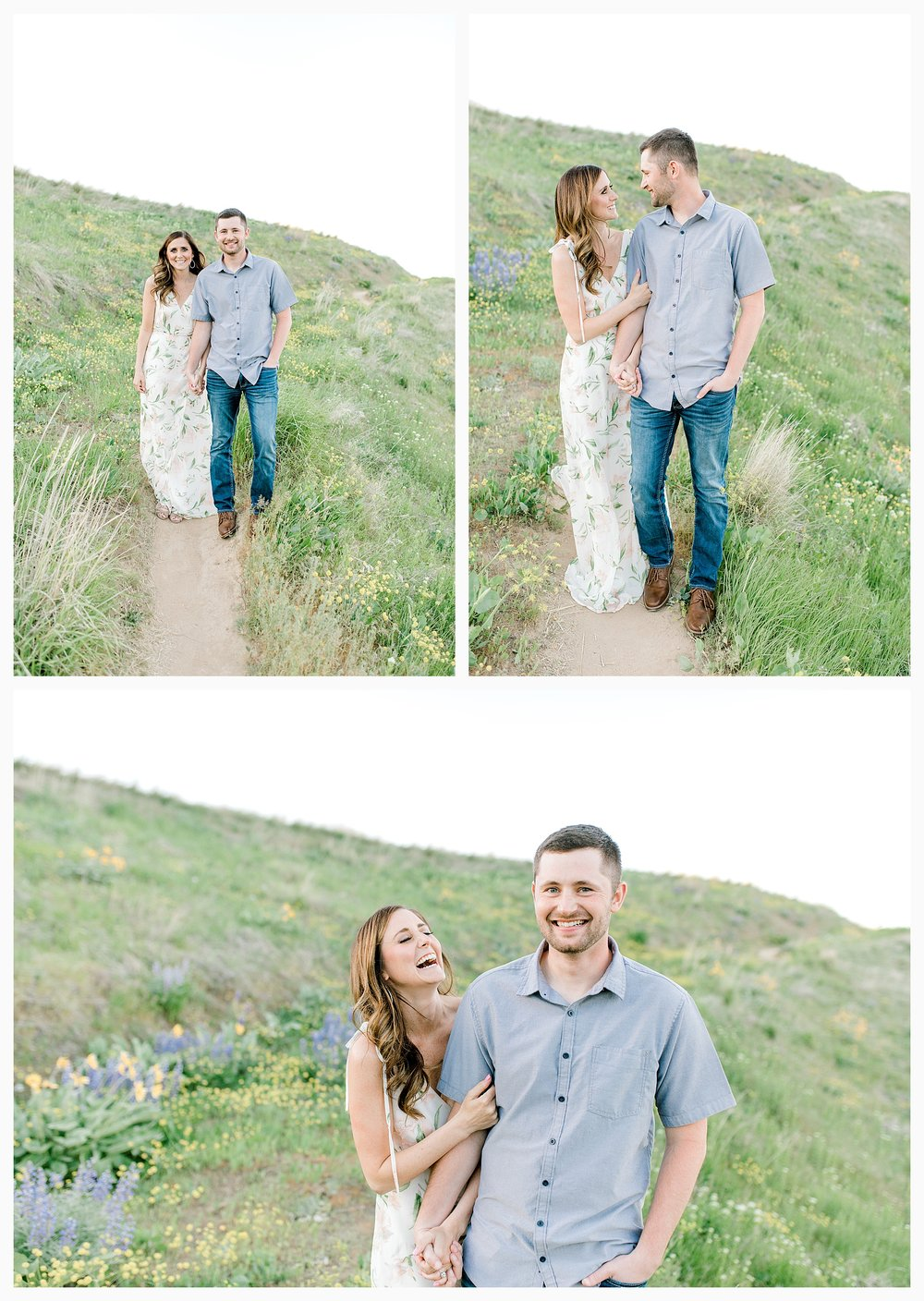Engagement session amongst the wildflowers in Wenatchee, Washington | Engagement Session Outfit Inspiration for Wedding Photography with Emma Rose Company | Light and Airy PNW Photographer, Seattle Bride_0001.jpg