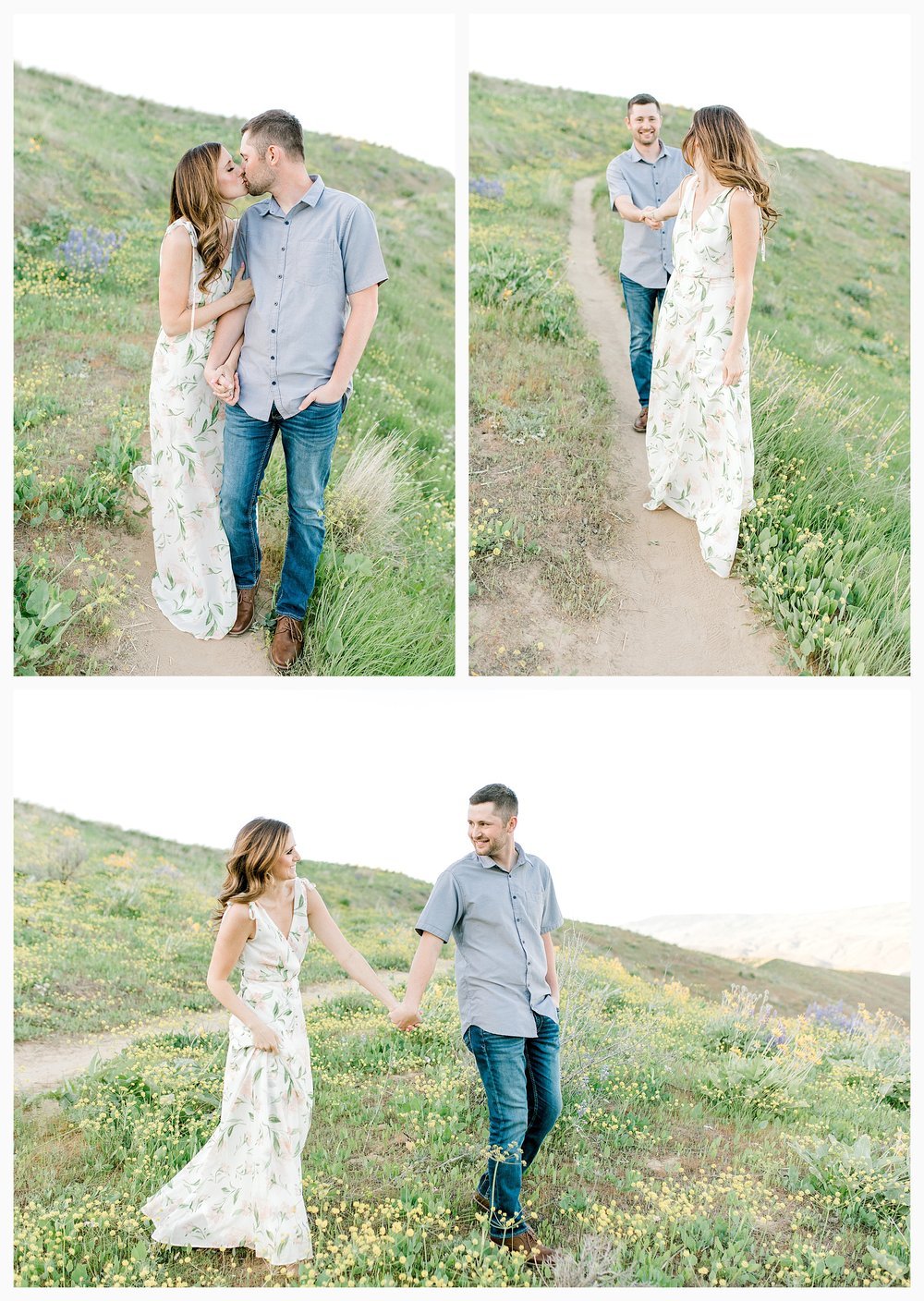 Engagement session amongst the wildflowers in Wenatchee, Washington | Engagement Session Outfit Inspiration for Wedding Photography with Emma Rose Company | Light and Airy PNW Photographer, Seattle Bride_0003.jpg