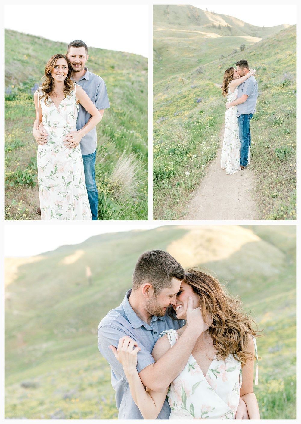 Engagement session amongst the wildflowers in Wenatchee, Washington | Engagement Session Outfit Inspiration for Wedding Photography with Emma Rose Company | Light and Airy PNW Photographer, Seattle Bride_0007.jpg