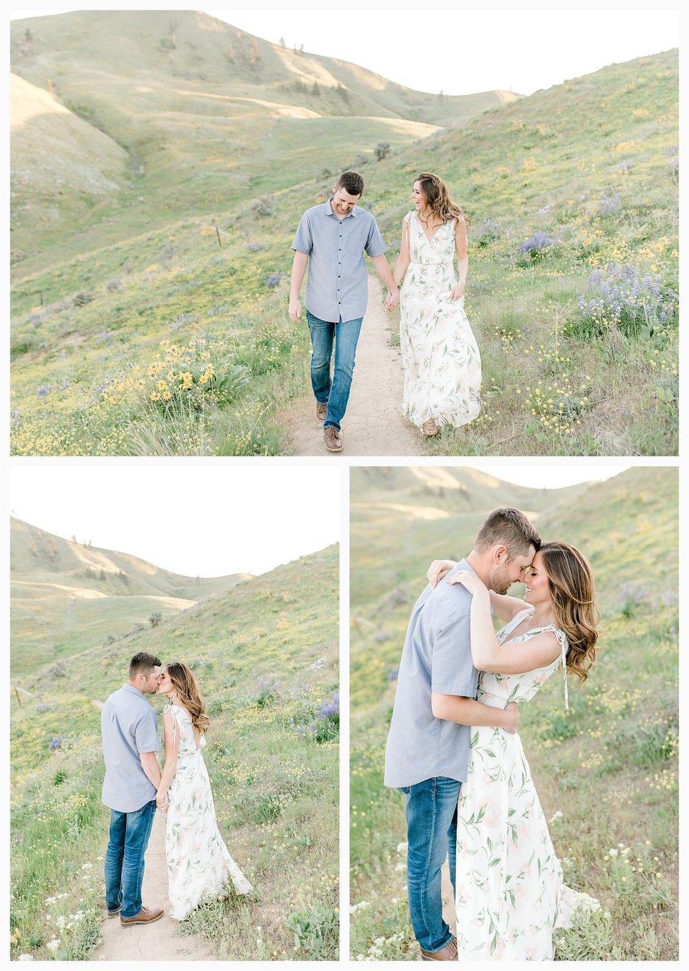Engagement session amongst the wildflowers in Wenatchee, Washington | Engagement Session Outfit Inspiration for Wedding Photography with Emma Rose Company | Light and Airy PNW Photographer, Seattle Bride_0013.jpg