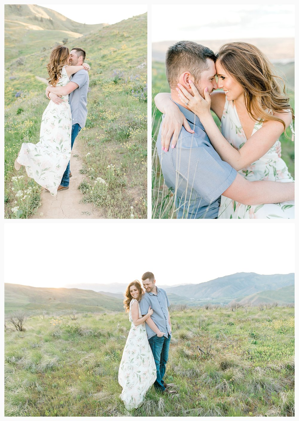 Engagement session amongst the wildflowers in Wenatchee, Washington | Engagement Session Outfit Inspiration for Wedding Photography with Emma Rose Company | Light and Airy PNW Photographer, Seattle Bride_0017.jpg