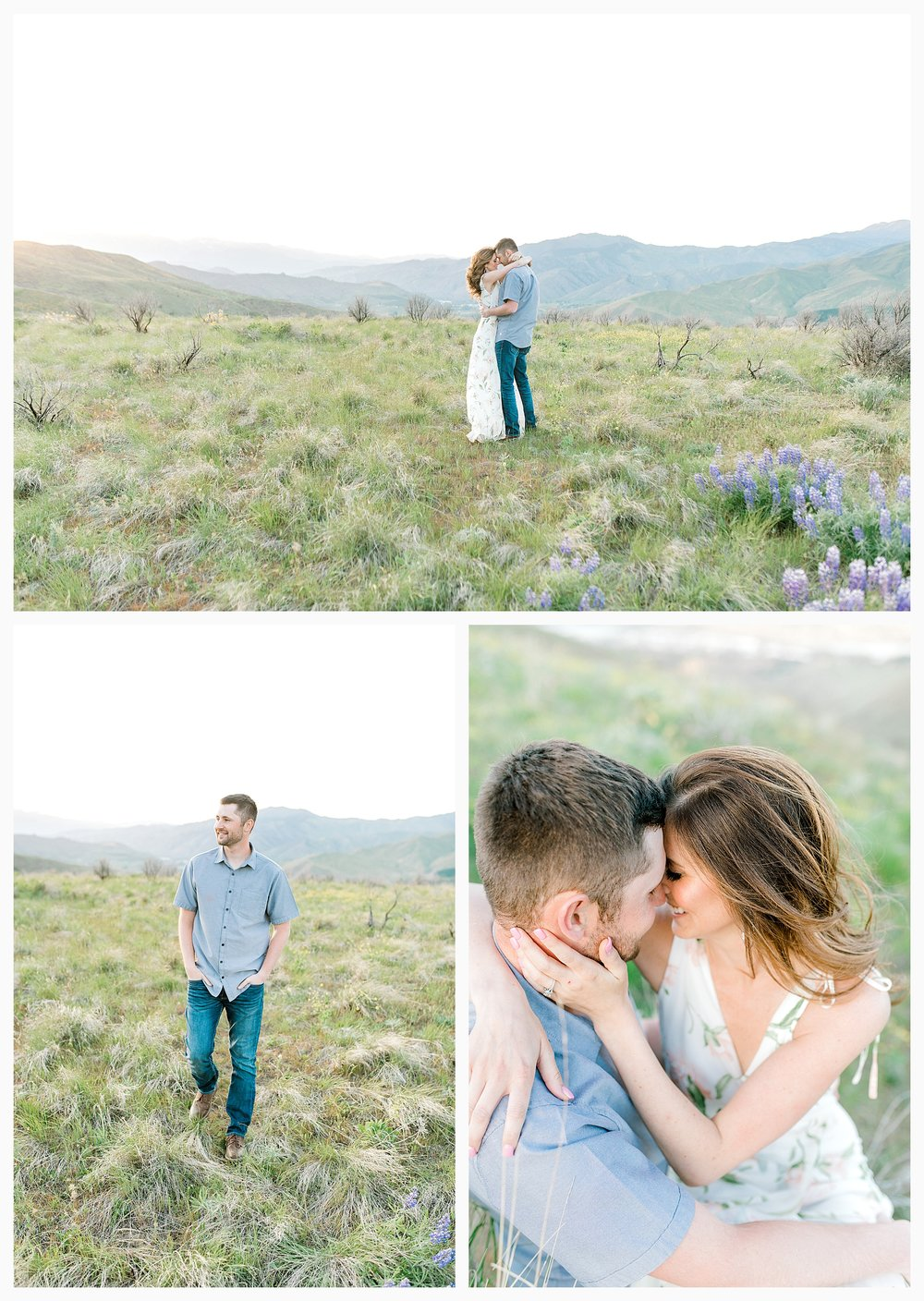 Engagement session amongst the wildflowers in Wenatchee, Washington | Engagement Session Outfit Inspiration for Wedding Photography with Emma Rose Company | Light and Airy PNW Photographer, Seattle Bride_0020.jpg