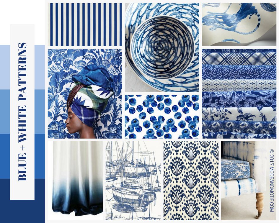 Blue and White with a Twist - modeandmotif.com