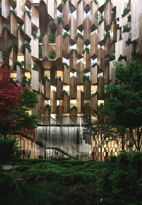 Plant-covered eco-luxury hotel to be built in Paris by Kengo Kuma & Associates. (via  Dezeen )