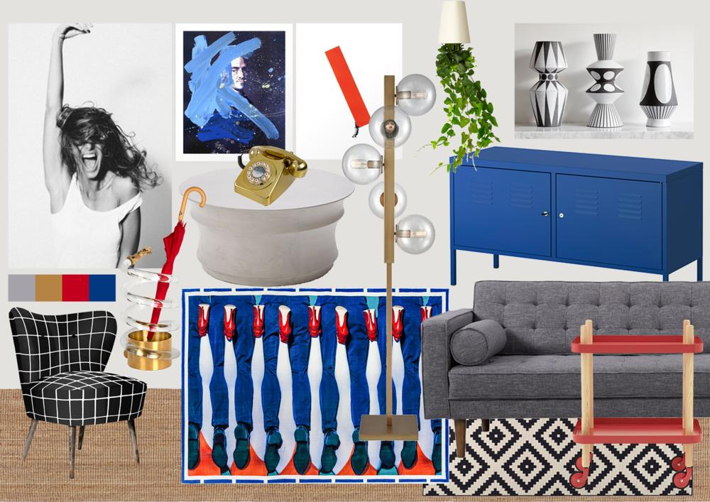 Pop Art Cool - Statement Floor Lamp Living Room Design - modeandmotif.com