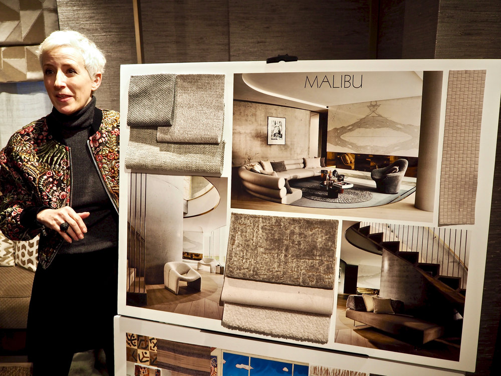 Arabella McNie  talks about the styling for the Malibu collection also by  Zinc Textile , and the challenges behind the shoot. One would never know the pillar in the living room was actually a prop made of cardboard!