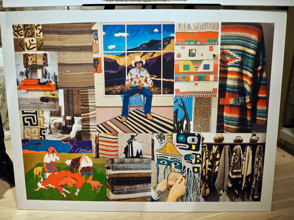 Mood board that inspires the location shoot for the Geronimo collection. Arabella was adamant that she wants blue sky for the shoot instead of being in a studio.