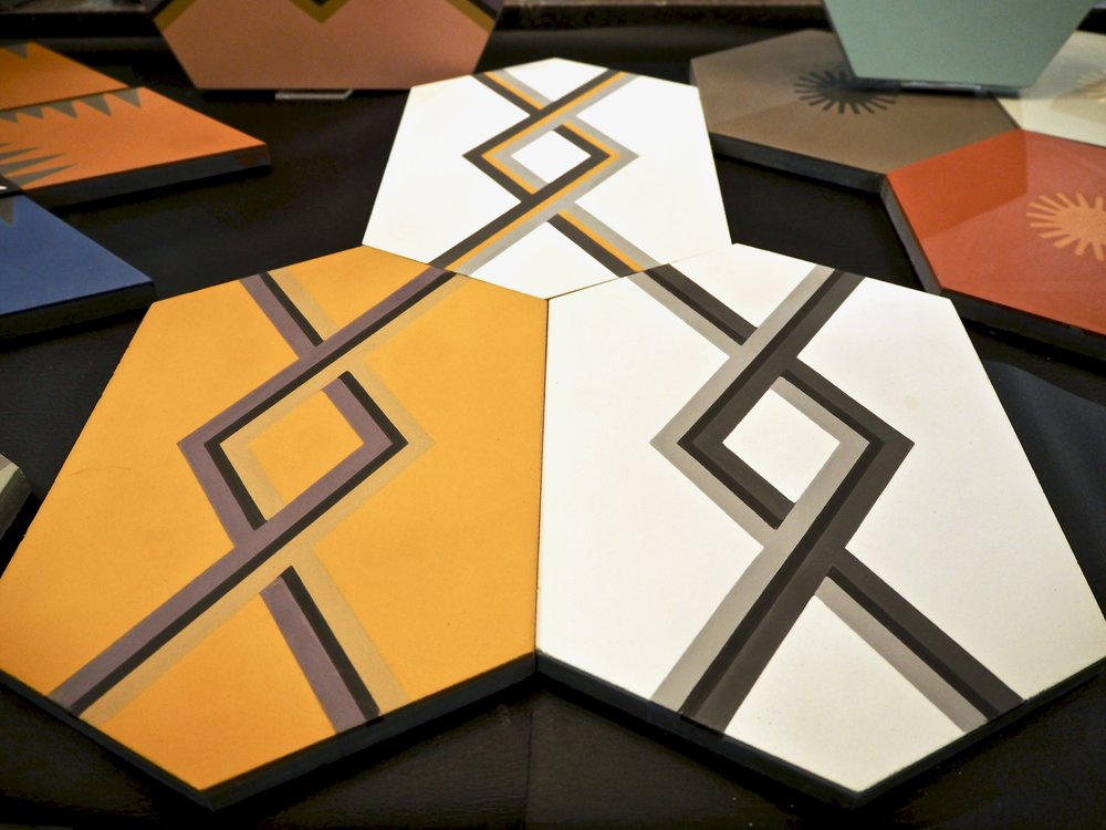 JIGSAW - The new handmade encaustic tile collection by Neisha Corsland for  Artisans of Devizes .