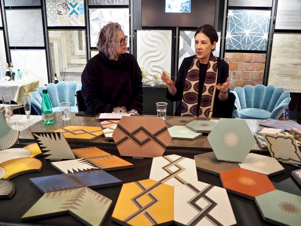 Neisha Corsland talking to Kate Watson-Smyth about her new tile collection, design inspiration and process.