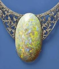 The Queens Opal, 203 carat matrix opal.  Found in Andamooka, Australia in 1949 and given to Queen Elizabeth II