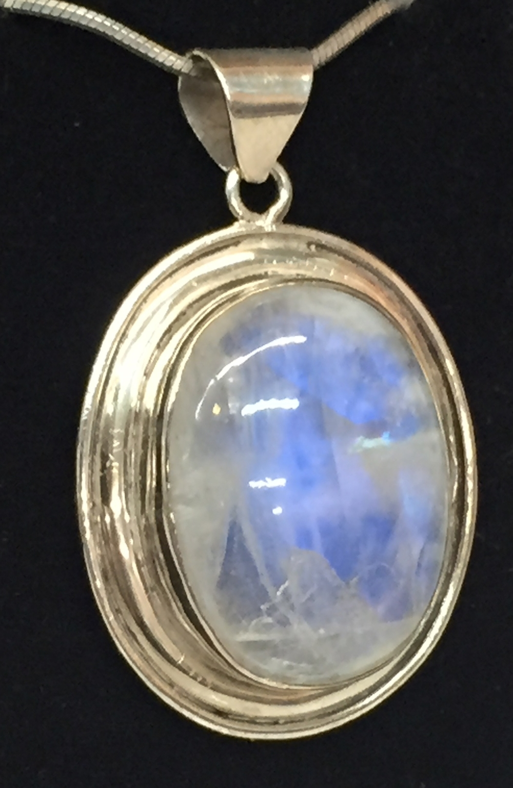 One of our Moonstone pendants in Sterling Silver