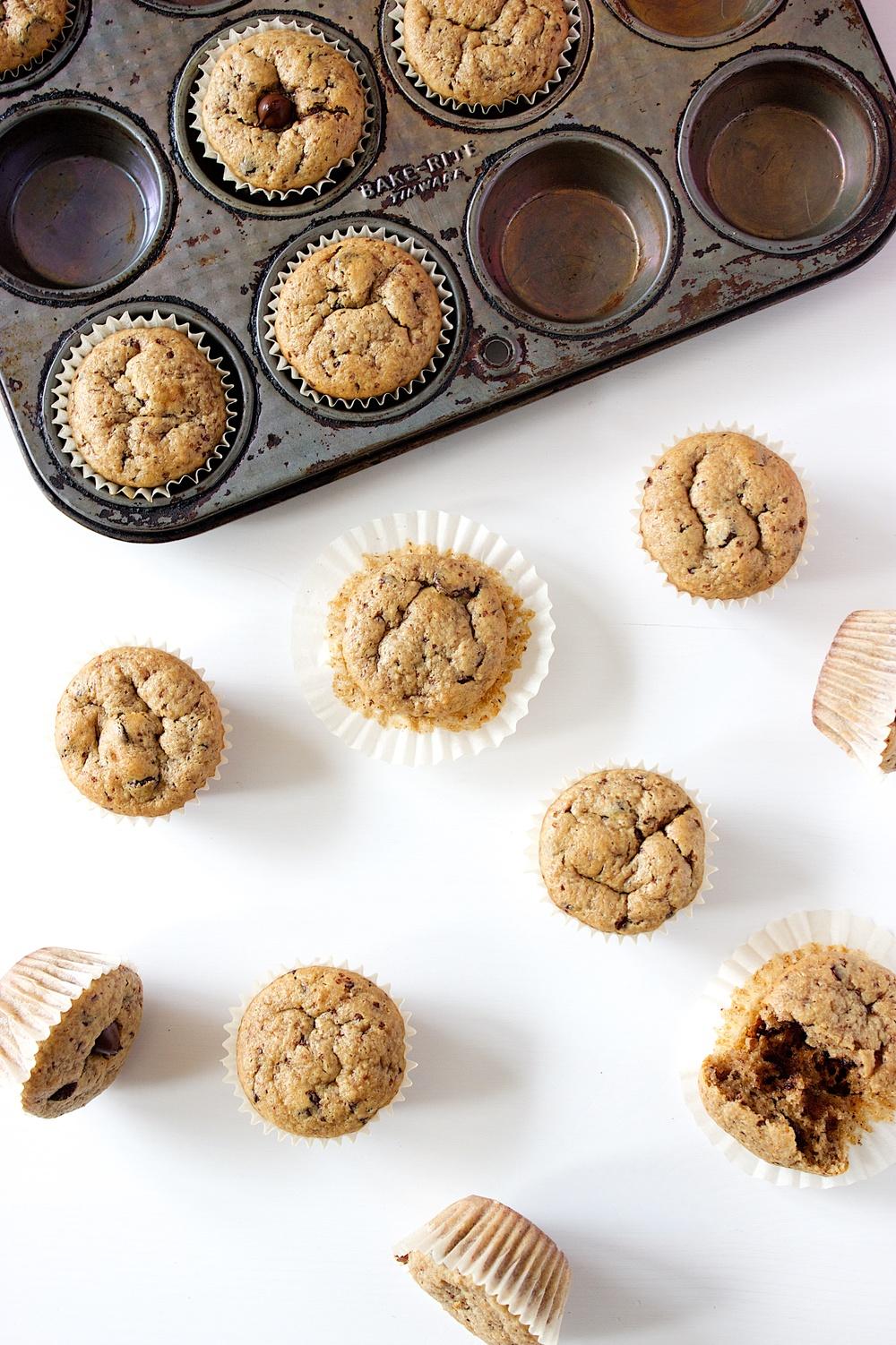 flourless peanut butter chocolate chip mini muffins 11.jpg