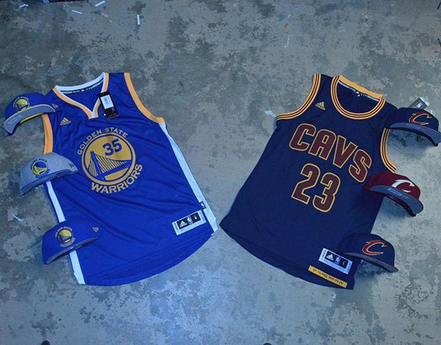 🏀Who you got?🏀 Stop by and get finals ready  #jersey #cleveland #cavs #goldenstate #warriors #nba #finals #hats #snapback #newera