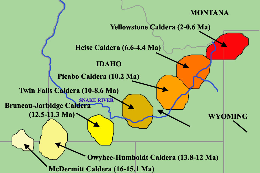 The path of the Yellowstone hotspot....to be continued?