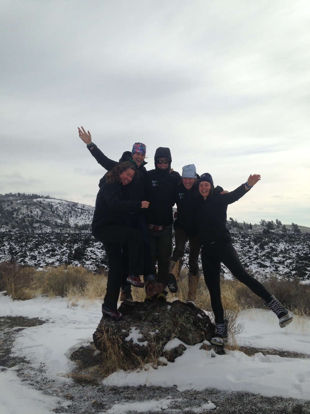 Team pit stop at Craters of the Moon.