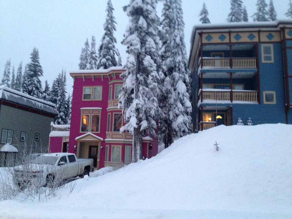 Our rental house in SilverStar. We got the Pink One.