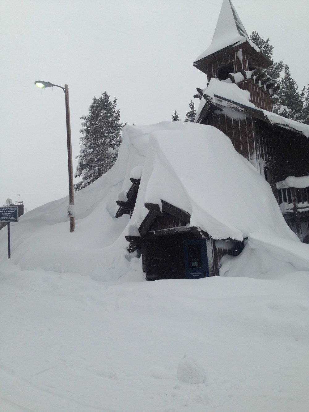The Ski Museum, buried on Donner Summit, January 2017.