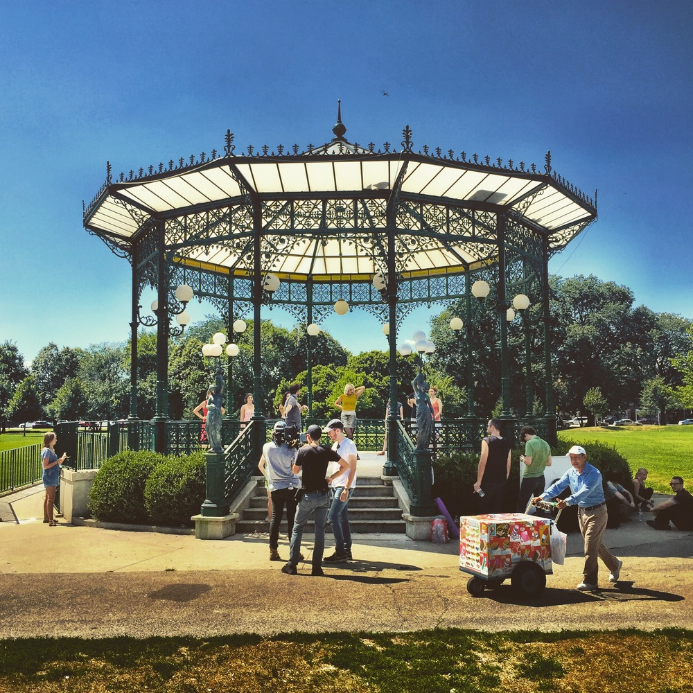 Dance sequence at the gazebo in Welles Park