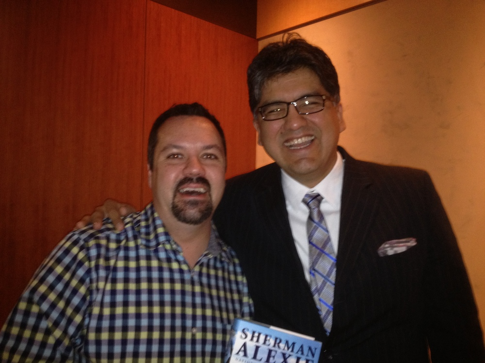 Kevin with National Book Award winner Sherman Alexie in Seattle. Alexie confessed that true crime is among his favorite genres to read when he's not writing (no word on if he's picked up a Flynn/Lavoie tome).