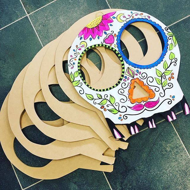 Have a few sugar skull boards left. Stop in this weekend to make one. First come first serve. #kre8artstudio #painting #sugarskulls #monroect