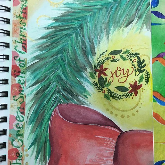 Holiday art journaling. #artjournal