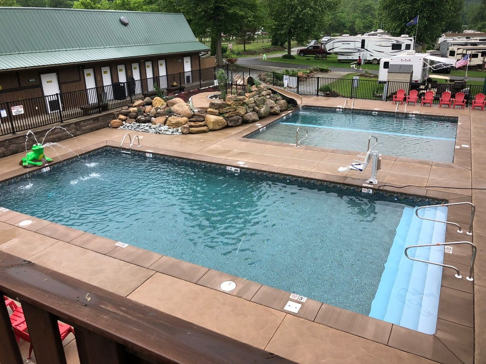 Uniontown's KOA River's Edge Campground - We originally built their pool