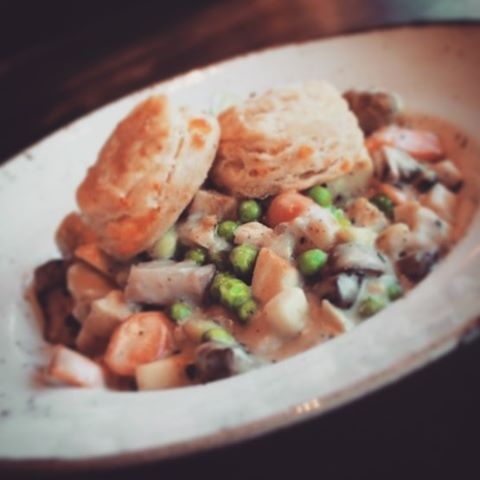 Our take on the classic Chicken Pot Pie. Try one today!