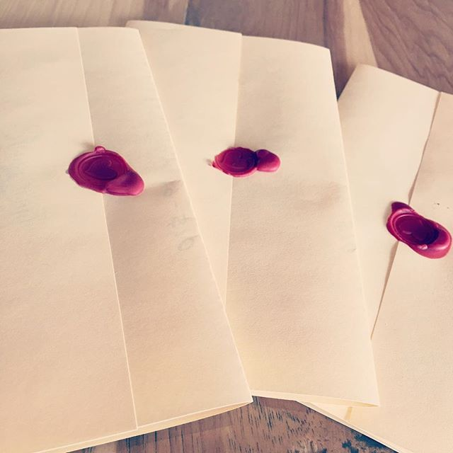 Our Valentine's menus have been stamped and sealed. Waiting for you to open and enjoy! #Poursochouston #valentines #waxstampingishard