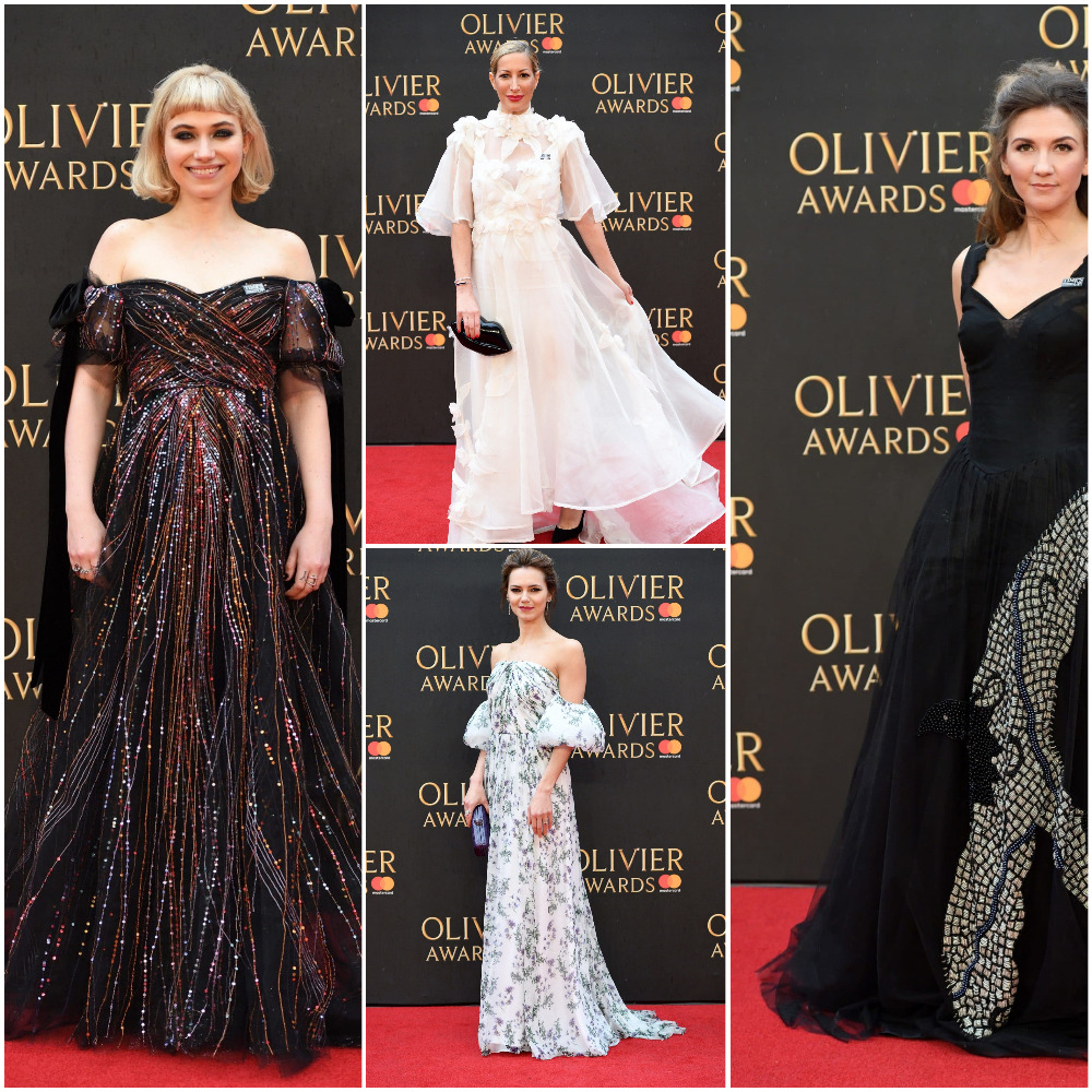 Imogen Poots chose a Valentino gown, Laura Pradelska walked the red carpet in a cream creation by Lesley de Freitas, Kara Tointon opted for a flowery Blumarine gown and Summer Strallen wore a gorgeous gown by Malan Breton