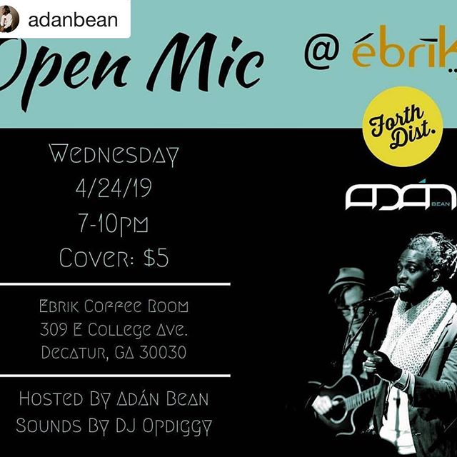 Tomorrow night. I'm at this thing.  Pull up 🔊👾🎤 #Repost @adanbean with @get_repost ・・・ Took a couple months off and much like bad checks or a Palestinian Jew 2,000 years ago, we've returned.  This time, we're out in downtown Decatur where it is rumored to be greater. Cozier space, free(er) parking. Same good folks.  Let us help you over that hump during the week with all the words and all the feelings...all of which, you'll find appealing.  The effervescent DJ Opdiggy is on the ones and twos.  And in the immortal words of Michael Josephus Jackson, you've gotta leave that nine-to-five up on the shelf and just enjoy yourself.  So... Fall through. Pull up. Stretch out. Do any other calisthenics you'd like, but come to the open mic I'm hosting this month on the 24th. Bring your poem, song and good vibes. We have very little use for anything else.