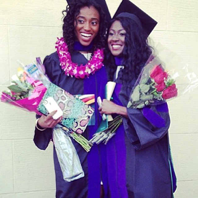Then, on May 17, 2014, I graduated from law school! Wholly Hair's other co-founder, Michelle, was right there with me. :)