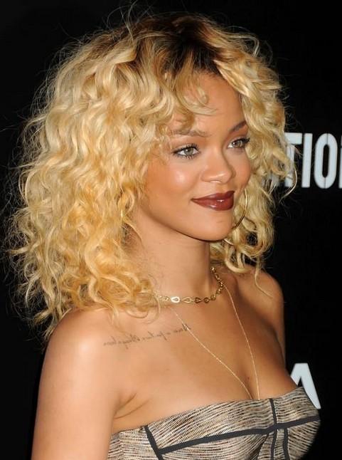rihanna blonde hairstyle
