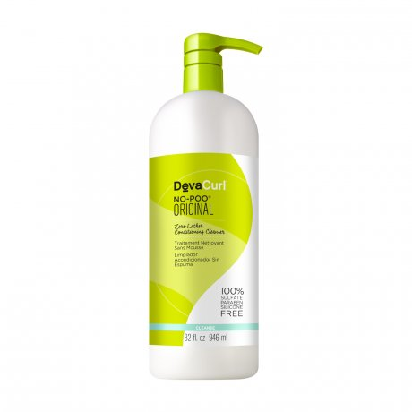 DevaCurl No-Poo Original - 32 oz. - Zero Lather Conditioning Cleanser - For Curly Hair