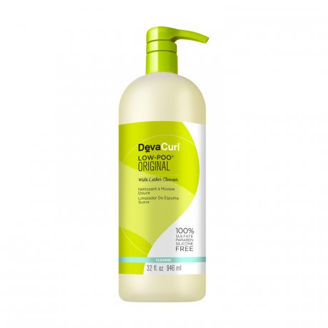 DevaCurl Low-Poo Original Mild Lather Cleanser - For Curly Hair - 32 oz.